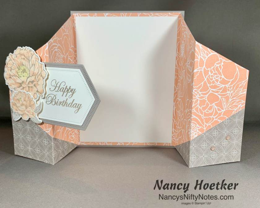 Stampin' Up! Peony Garden Double Gate Fold Card 1