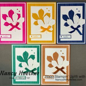 2020-2022 In Colors Love Of Leaves Cards Tutorial 1