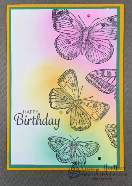 First Play with Butterfly Brilliance by Stampin' Up! 4
