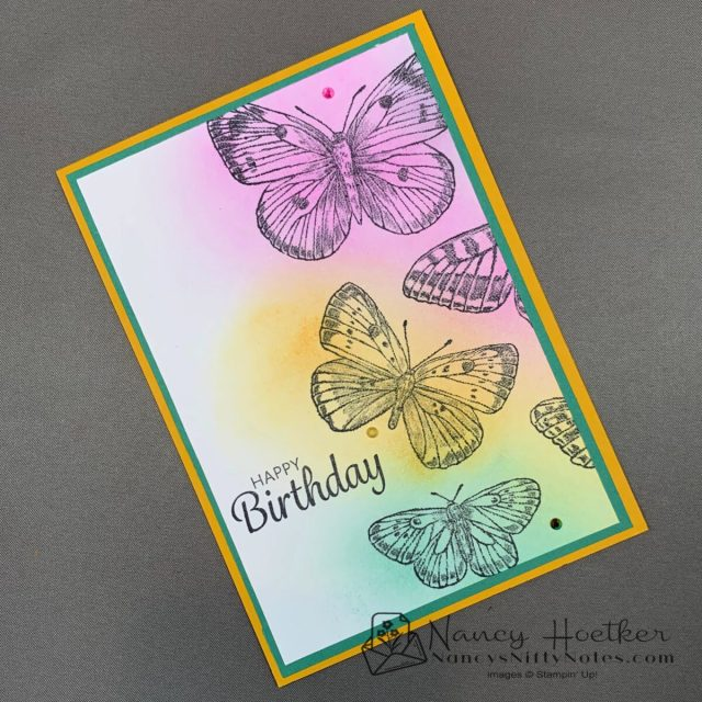 First Play with Butterfly Brilliance by Stampin' Up! 3