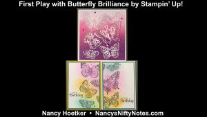 First Play with Butterfly Brilliance by Stampin' Up! 7