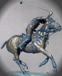 Polo Player Bronze Sculpture - Nancy Weimer Belden