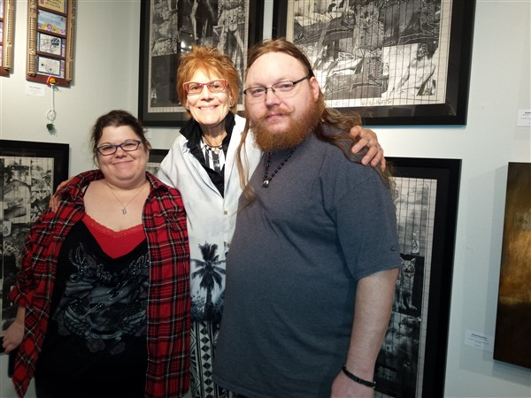 Nancy, Shellie and Cary at Archangel Gallery