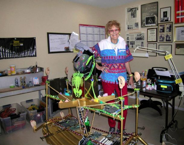 Nancy in her studio