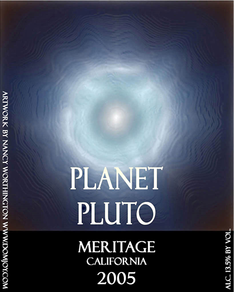 Planet Pluto Wine label
