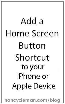 How to add Nancy Zieman's blog to your smart iPhone or