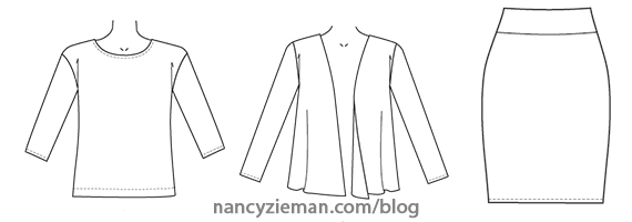 Sew Knit Coordinates- Start to Finish on Sewing With Nancy
