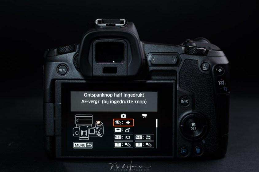 Het instellen van de autofocus activatie op een moderne Canon EOS R