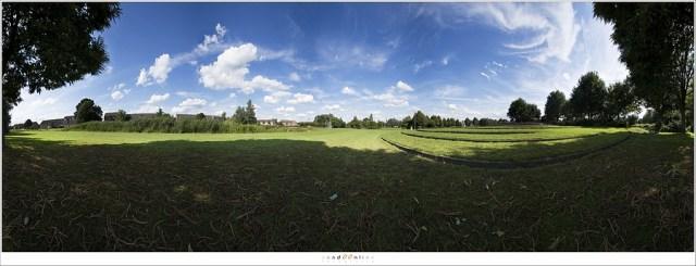 Voorkomen van lange, smalle panorama foto's - de horizon staat altijd in het midden