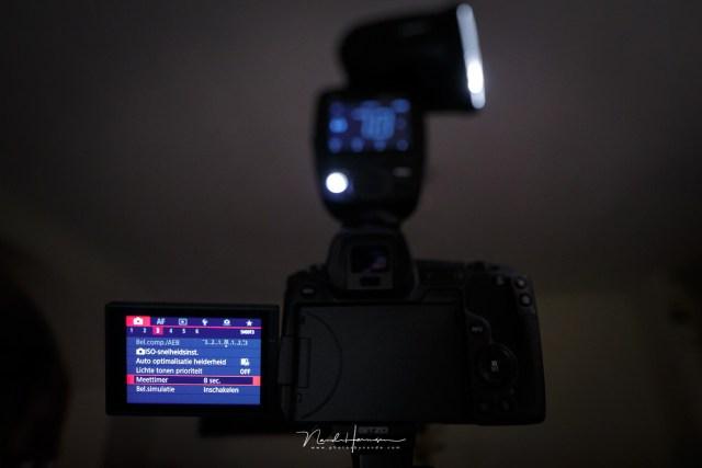 Bij de Canon EOS R zorgt de meettimer voor een helder beeld, ook als er onderbelichting is. Zoi kan de camera scherpstellen en krijg je tijd voor de compositie te maken.