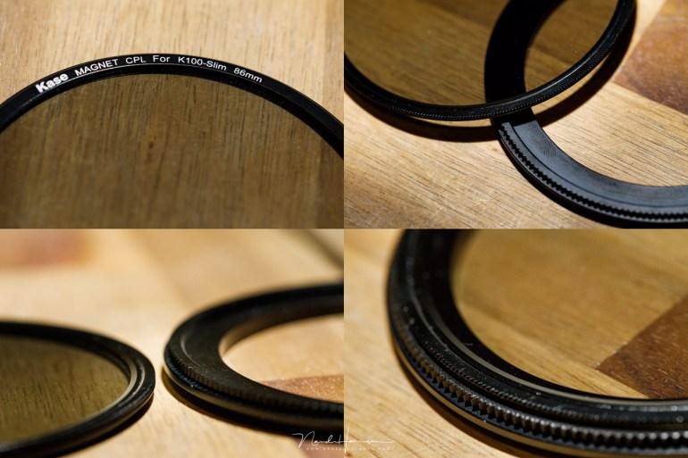 Het polarisatie filter wordt magnetisch verankerd in de adapter ring. Daarin zit het rotatie mechanisem, en niet in het filter zelf.