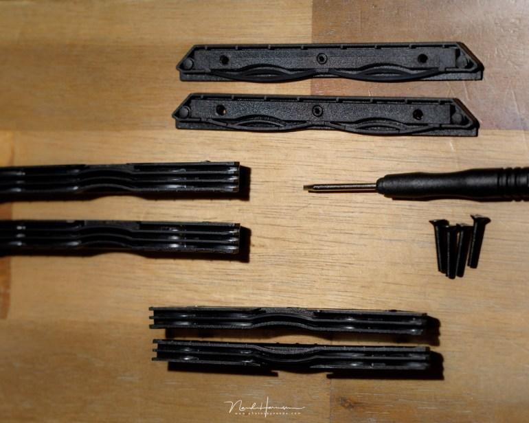 De spullen die het mogelijk maakt om het aantal filterslots aan te passen, of de maat te veranderen van 2mm naar 1,2mm