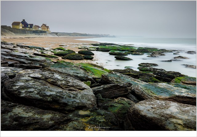 Het strand van Audresselles,;