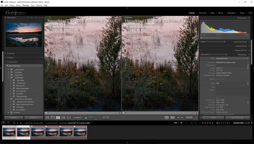 Zie het verschil tussen een gewone, bewerkte foto, en wanneer deze gestacked wordt met vijf gelijke beelden. De ruis is grotendeels verdwenen, maar met behoudt van de details