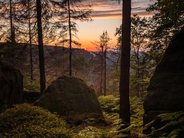 Een zonsondergang, snel met de smartphone gefotografeerd.