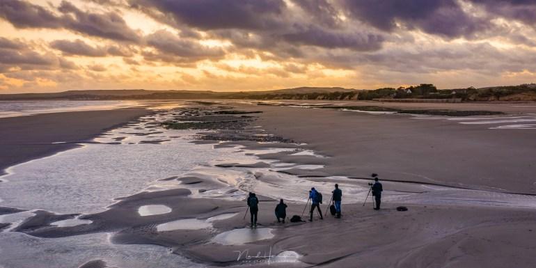 Op het strand van Tardinghen tijdens afnemend tij. Geen gevaar dus om verrast te worden door de grote getijdenverschillen.