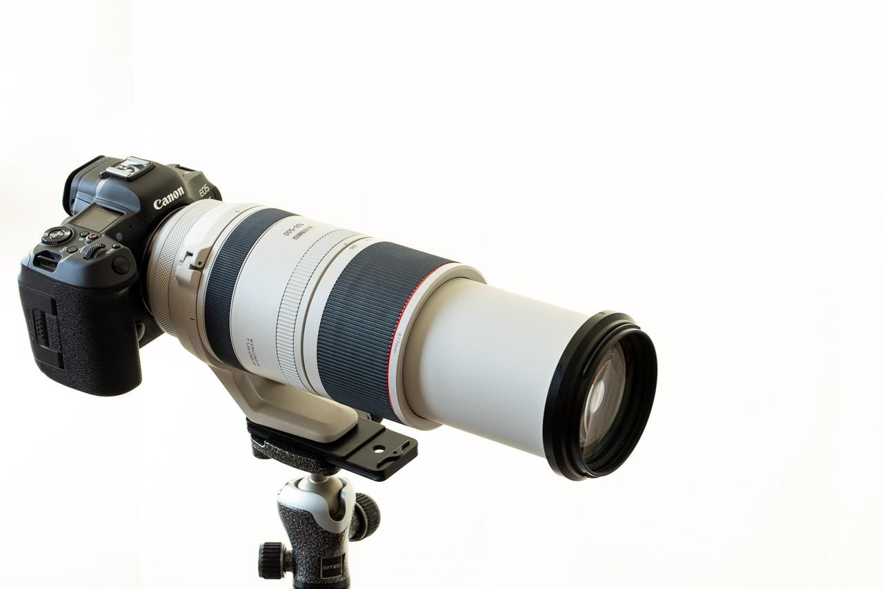 De RF100-500mm op de Canon EOS R5