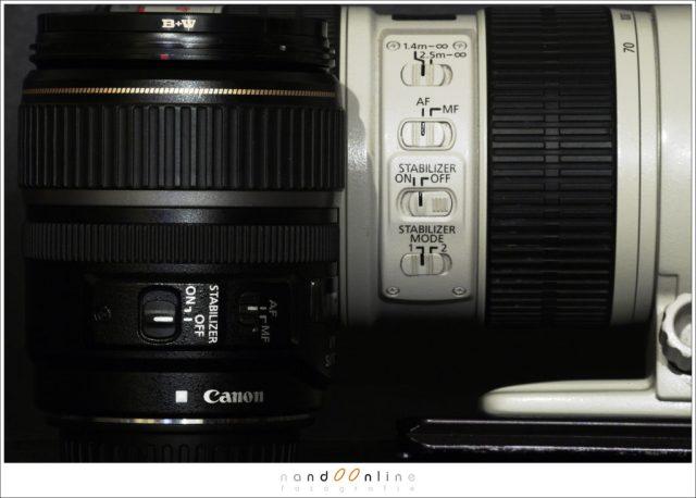 Beeldstabilisatie op de lens