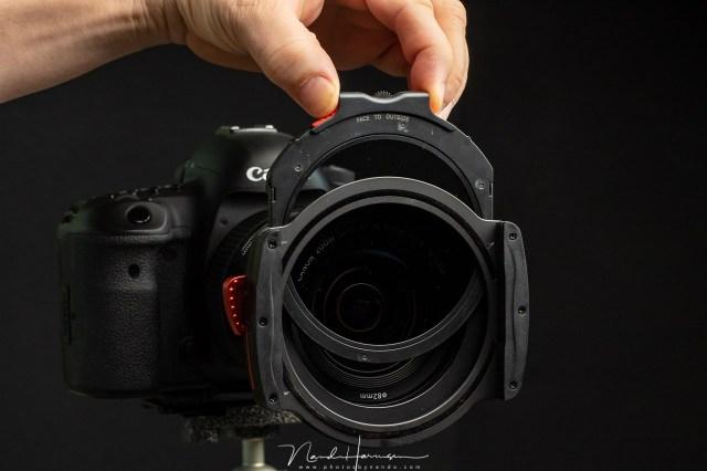 Welke fotoapparatuur neem ik mee naar Lofoten? Haida M10 fillterhouder