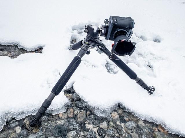 het fotograferen met het Hiada M10 filtersysteem, met een CPL gecombineerd met een grijsfilter, en een grijsverloopfilter