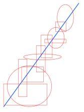 compositieleer; een diagonale compositie
