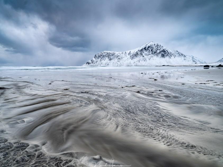 Patronen op het strand van Skagsanden