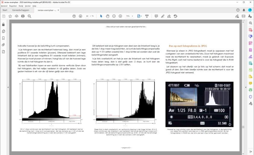 Het e-book Licht Vangen - het histogram
