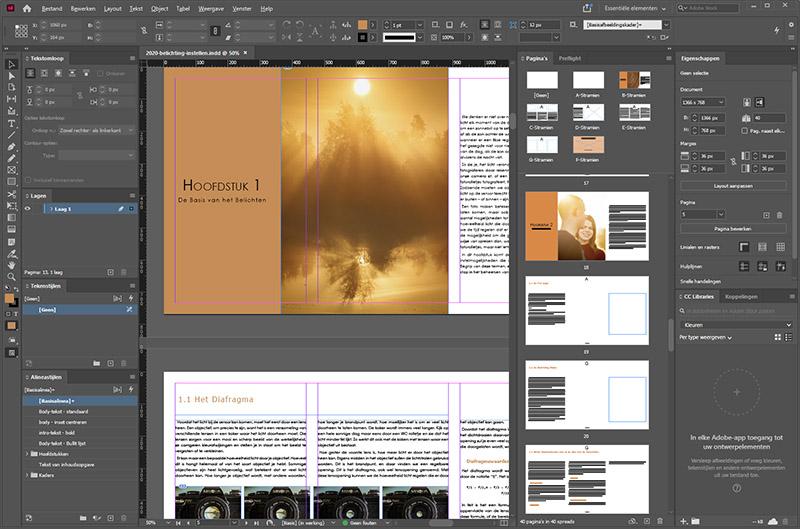 He schrijven en ontwerpen van mijn e-book Licht Vangen