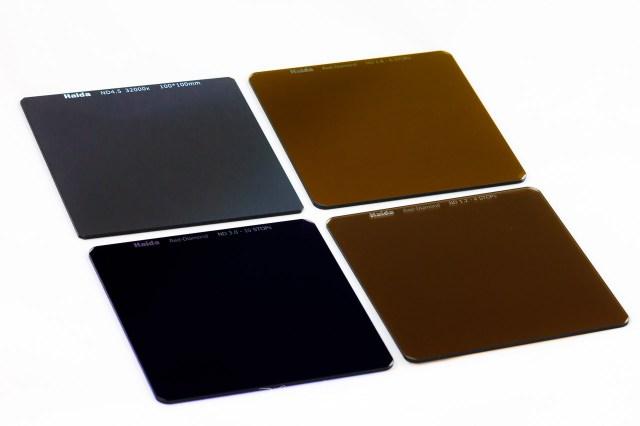 Vier grijsfilters van verschillende sterktes - Hoe kies je het juiste grijsfilter voor jouw foto?