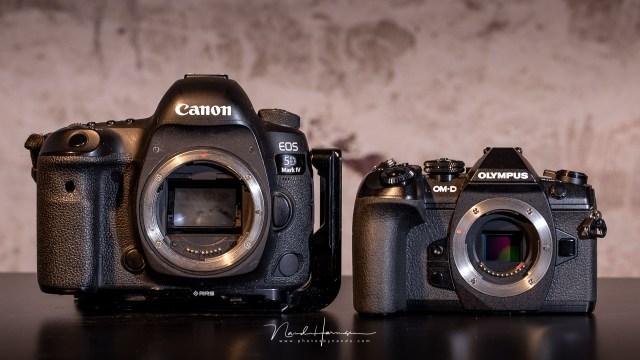Olympus vergeleken met de Canon