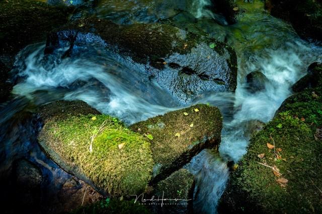 Waterstroom in Vallei der Druïden - Hoe kies je het juiste grijsfilter voor jouw foto? Een niet al te donker filter voor stroomversnellingen