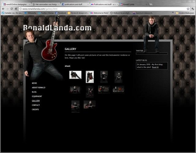 Ronald Landa website - Fotografie voor en van artiesten door Nando Harmsen