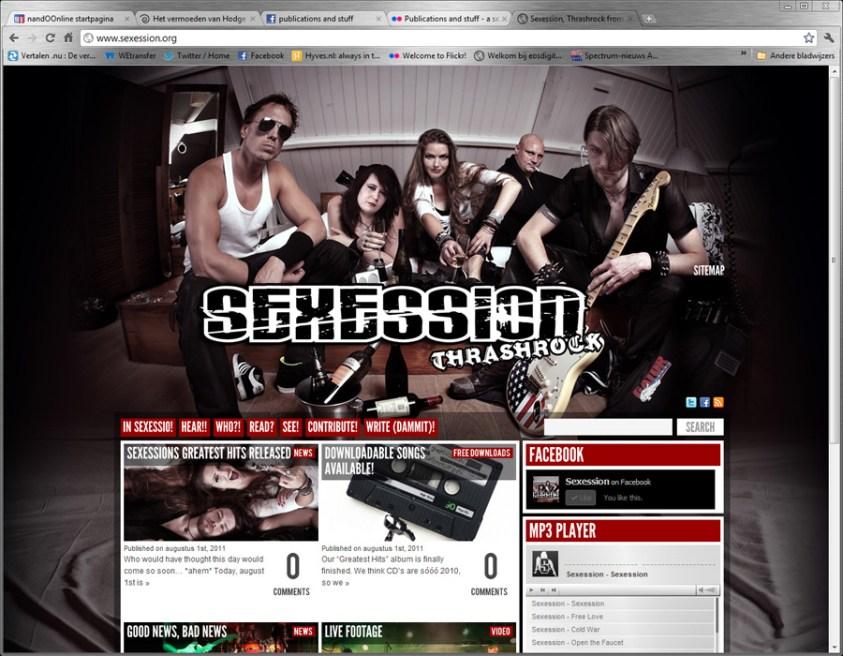 Sexession website - Fotografie voor en van artiesten door Nando Harmsen