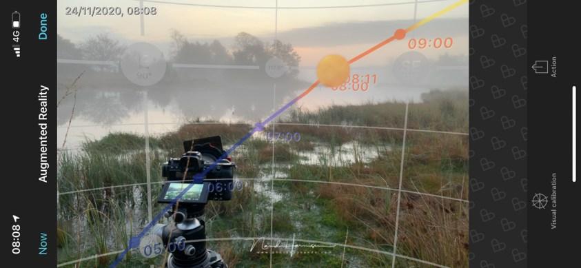 Photopills helpt je plannen bij landschappen fotograferen in de mist
