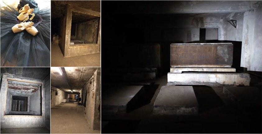 De foto locatie voor de fotoshoot in stof en duisternis