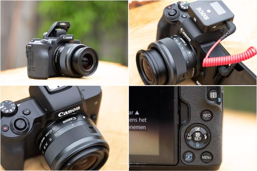 De Canon EOS M50 mark II in vogelvlucht