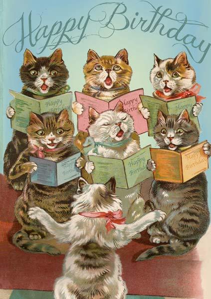 Madame Treacle Cat Chorus Birthday Card #MTHB087