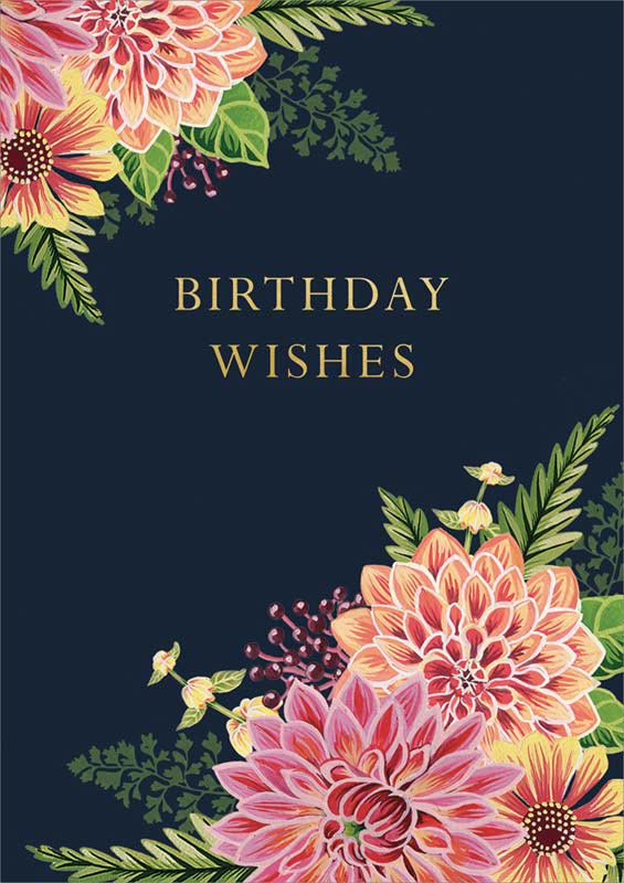 Cath Tate Cards Pink Amp Yellow Flowers Birthday Card CDF1490