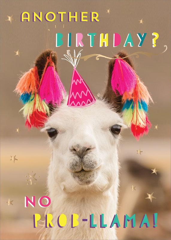 Ling Design Ltd No Prob Llama! Birthday Card #LNQ0158