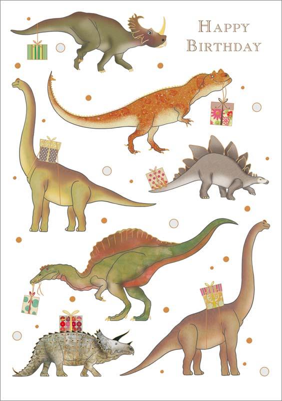 Quire Publishing Dinosaur Birthday Card #MC3366