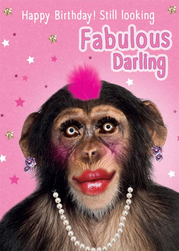 Tracks Publishing Ltd Monkey Birthday Cards #FNQ004