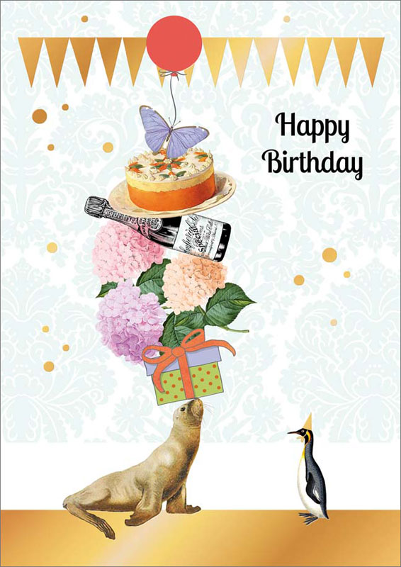 Quire Publishing Balancing Seal Birthday Card P1189