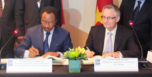 Minister Nganou Djoumessi (left) and Minister Fast  photo: Ministry of Foreign Affairs-Canada