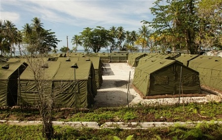 Conditions at Manus Island processing center are harsh and inhumane photo: DIBP