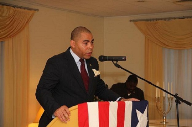 Mike Mueller is vying for a senatorial post in Liberia