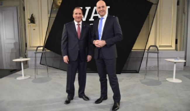 Two top contenders: Social Democrats' Stefan Löfven (left) and Prime Minister Fredrik Reinfeldt Photo: TT