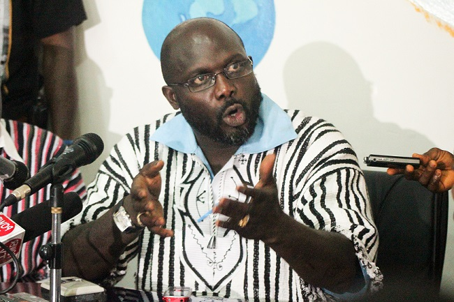 George Weah is a CDC senatorial candidate