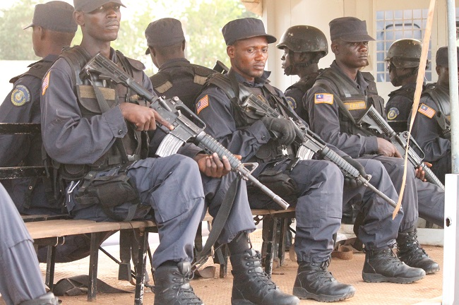 Liberian police officers are said to be up to the task of securing the country