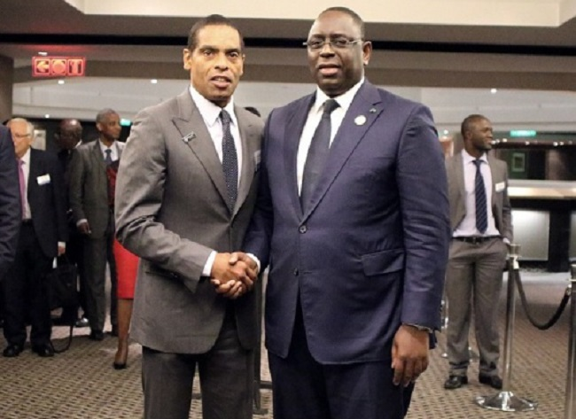 From left: Dr Álvaro Sobrinho and Senegalese President Macky Sall