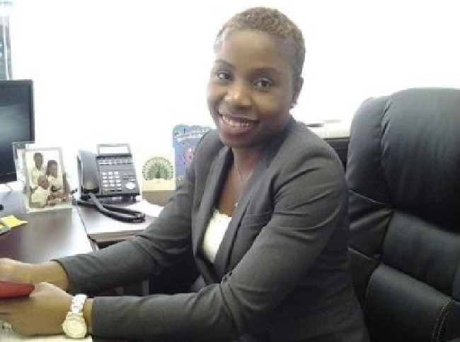 Vice Counselor Kim Greene Konneh (source: Online profiled photo).